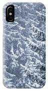 Pine Trees Covered In Snow, Les Arcs IPhone Case