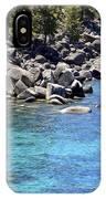 Pines Boulders And Crystal Waters Of Lake Tahoe IPhone Case