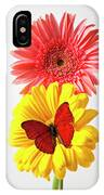 Pink And Yellow Mums IPhone Case