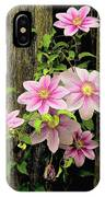 Pink Climatis Flower IPhone Case