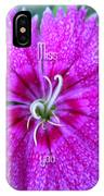 Pink Flower Miss You IPhone Case