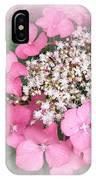 Pink Lace Cap Hydrangea Flowers IPhone Case