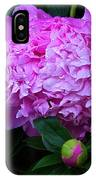 Pink Peonies In The Rain IPhone Case