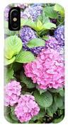 Pink Purple Hydrangeas IPhone Case