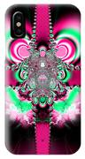 Pink Ribbons And Bow Fractal 75 IPhone Case