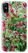Pink Shrimp Plant IPhone Case