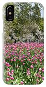 Pink Tulips And Blossom 1 IPhone Case