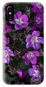 Pinkish-purple Wildflowers Geranium IPhone Case