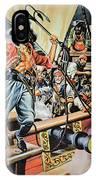 Pirates Preparing To Board A Victim Vessel  IPhone Case