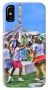Plaiting The Maypole IPhone Case