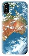 Planet Earth Showing Clouds IPhone Case