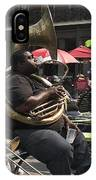 Playing The Tuba _ New Orleans IPhone Case
