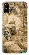 Plebes Navigate The Low Crawl Obstacle IPhone Case