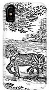 Ploughing, 19th Century IPhone Case