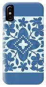 Plumeria Hawaiian Quilt Block IPhone Case