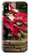 Poinsettia Garden IPhone Case