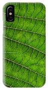 Poinsettia Leaf IIi IPhone Case