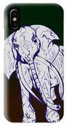 Pointillism Elephant IPhone Case