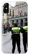 Policia Madrid IPhone Case