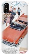 Pontiac Advertisement 1957 IPhone Case
