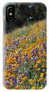 Poppies And Lupine Flowers Blanket IPhone Case