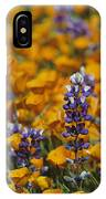 Poppies And Lupine Flowers In A Santa IPhone Case