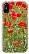 Poppies And Purple Flowers IPhone Case