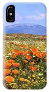Poppies Over The Mountain IPhone Case