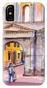 Porta Borsari Verona  First Century Ad Roman Gate IPhone Case