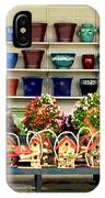 Pots And Birdhouses IPhone Case