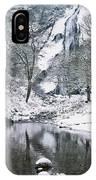 Powerscourt Waterfall In Winter, County IPhone Case