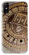 Prague Manhole Cover IPhone Case