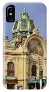 Prague Obecni Dum - Municipal House IPhone Case