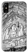 Prayers At Notre Dame - Black And White IPhone Case