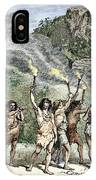 Prehistoric Human Funeral IPhone Case