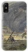 Kansas Cyclone, 1887 IPhone Case