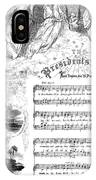 Presidents Hymn, 1863 IPhone Case