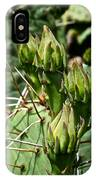 Prickly Pear Cactus Buds IPhone Case