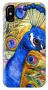 Prince Peacock IPhone Case