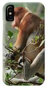 Proboscis Monkey Nasalis Larvatus Male IPhone Case