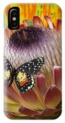 Protea With Speckled Butterfly IPhone Case
