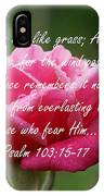 Psalm 103 IPhone Case