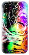 Psychedelic Black Lab With Kerchief IPhone Case