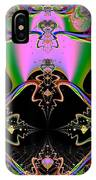 Psychedelic Blackhole Birthday Party Fractal 120 IPhone Case