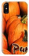Pumpkin Card IPhone Case