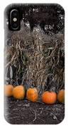 Pumpkins And Cornstalks IPhone Case