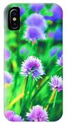 Purple And Green Chive Watercolor IPhone Case