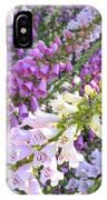 Purple And White Foxglove Square IPhone Case