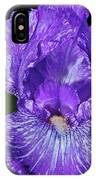Purple And White Stiped Iris IPhone Case