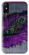 Purple Feather IPhone Case